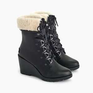 J. Crew Sorel After Hours Lace-up Boots NIB